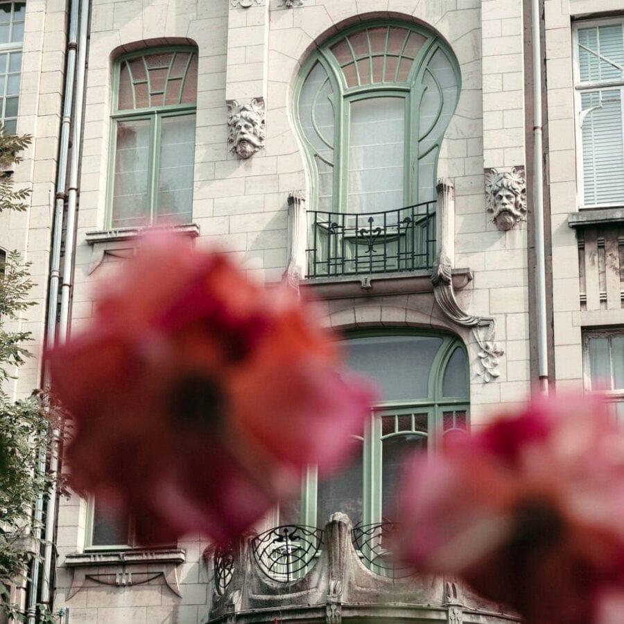 Magnifique facade de l'hôtel August à Anvers