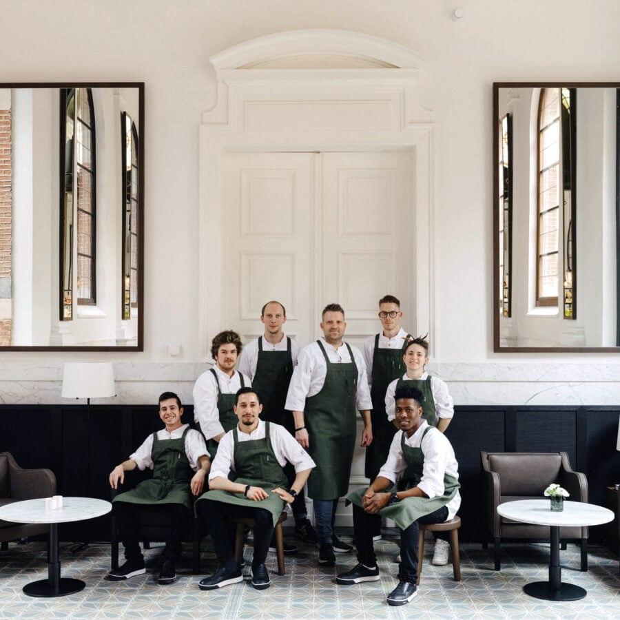 L'équipe de l'hôtel August à Anvers