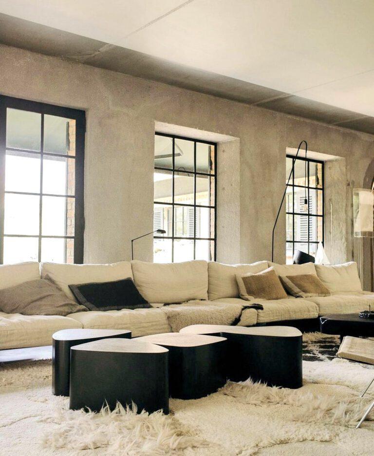Canapé et vitre design à Bea BB à Knokke