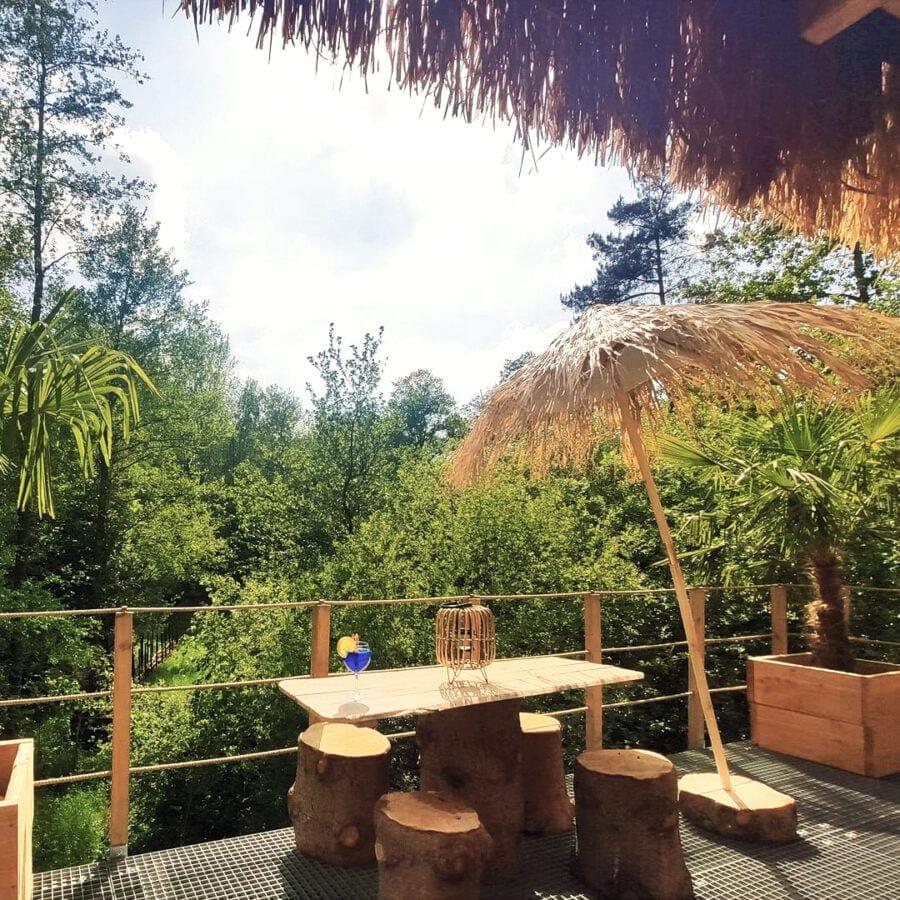 Terrasse de la cabane sauvage de Durbuy