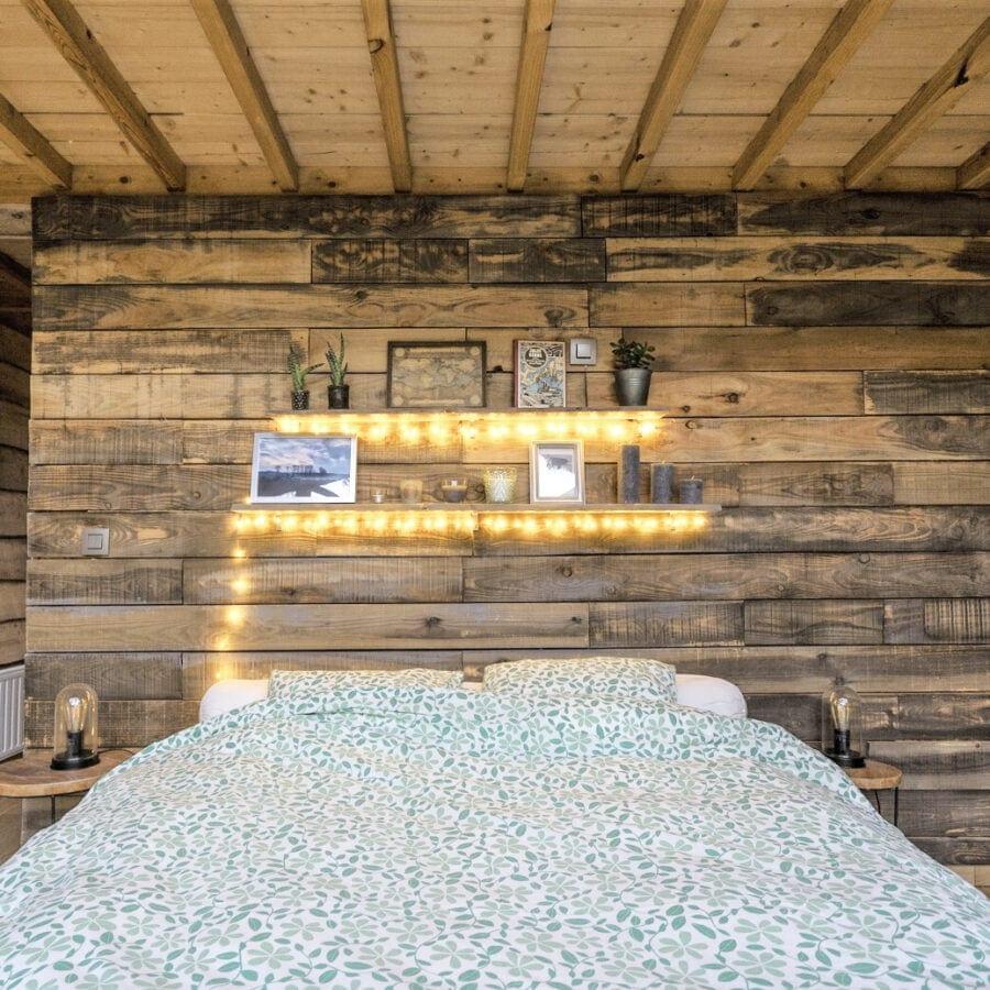 Chambre à coucher de la cabane sauvage de Durbuy