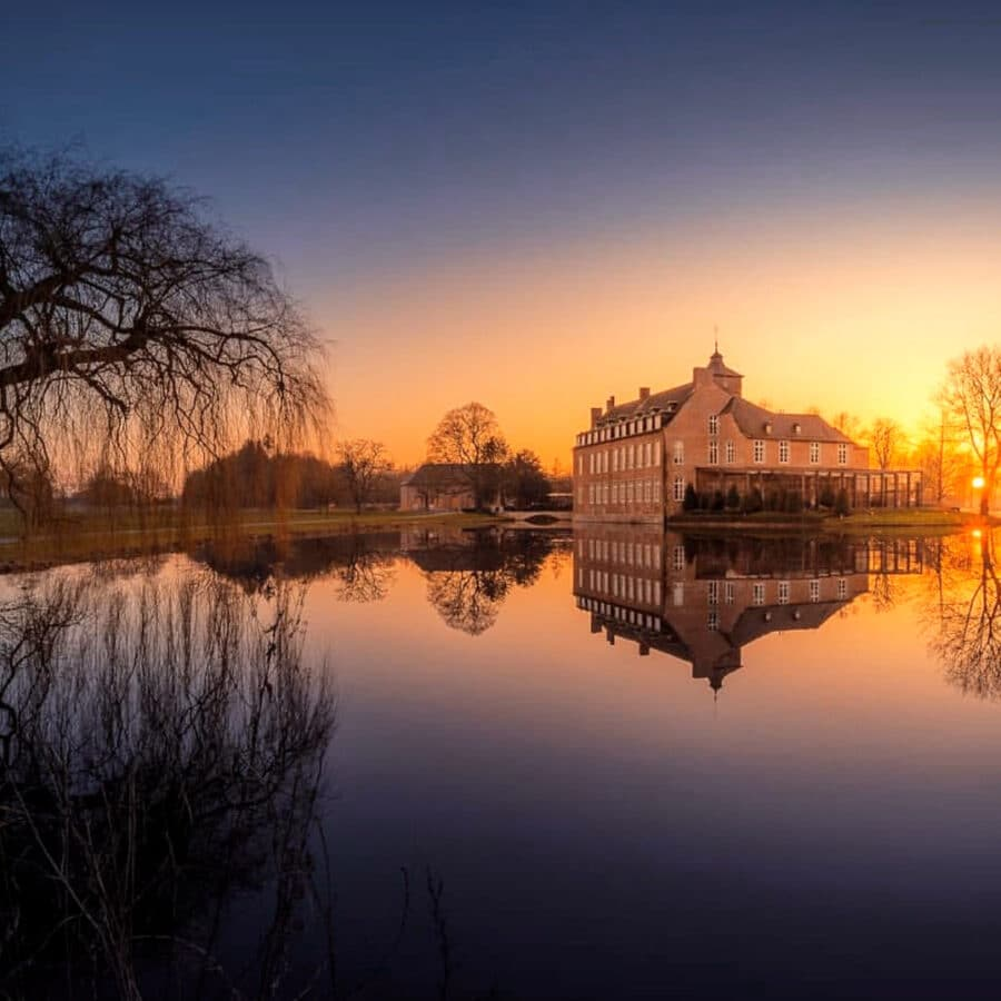Coucher de soleil au Château Bayard à Namur