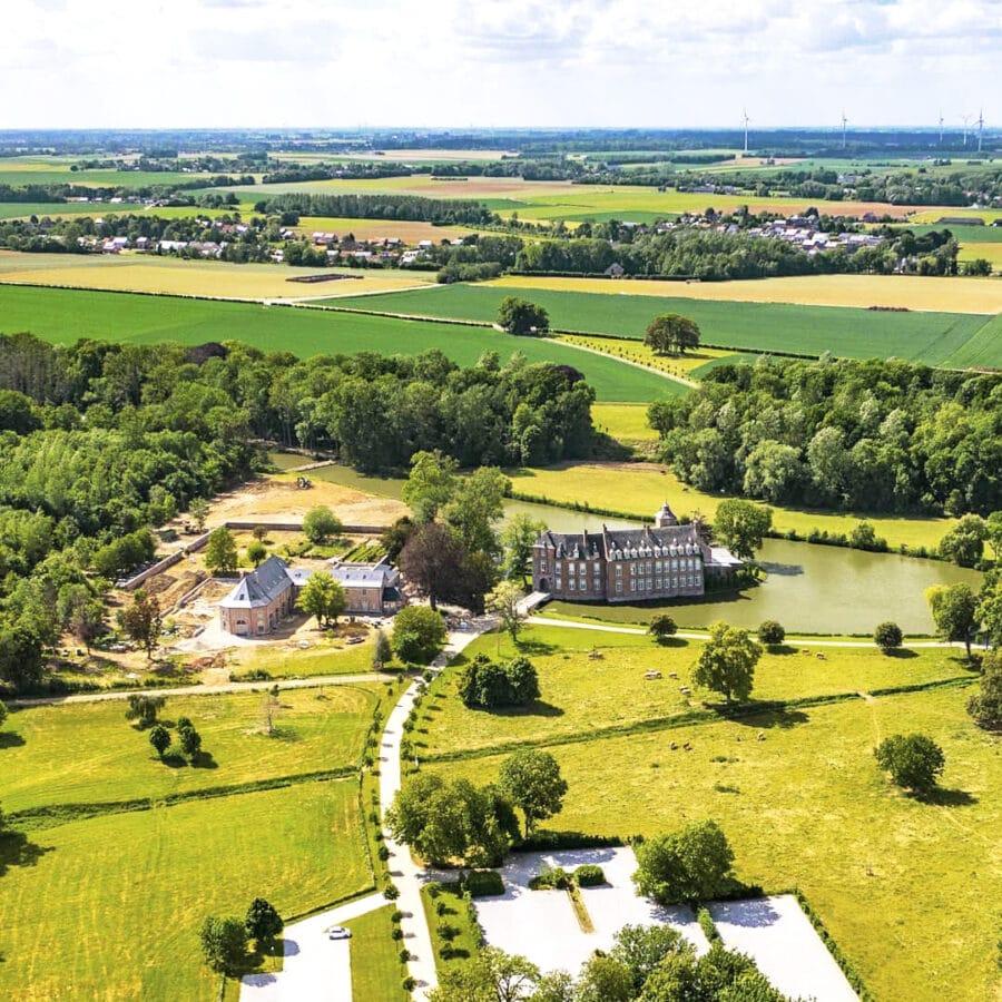 Château Bayard vue du ciel à Namur