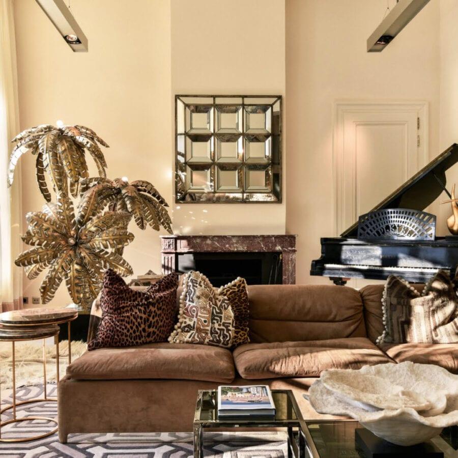 Salon doré de l'hôtel Van Cleef à Bruges