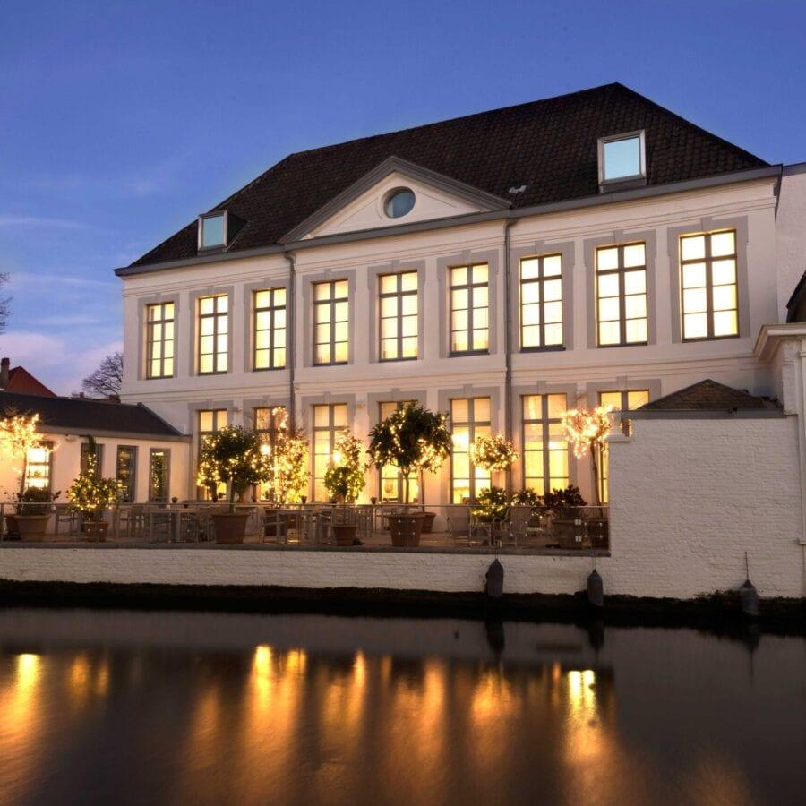 Terrasse de l'hôtel Van Cleef à Bruges