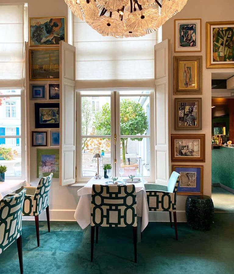 Salon de thé de l'hôtel Van Cleef à Bruges