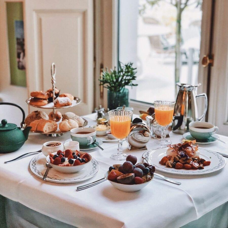 Petit déjeuner à l'hôtel Van Cleef à Bruges