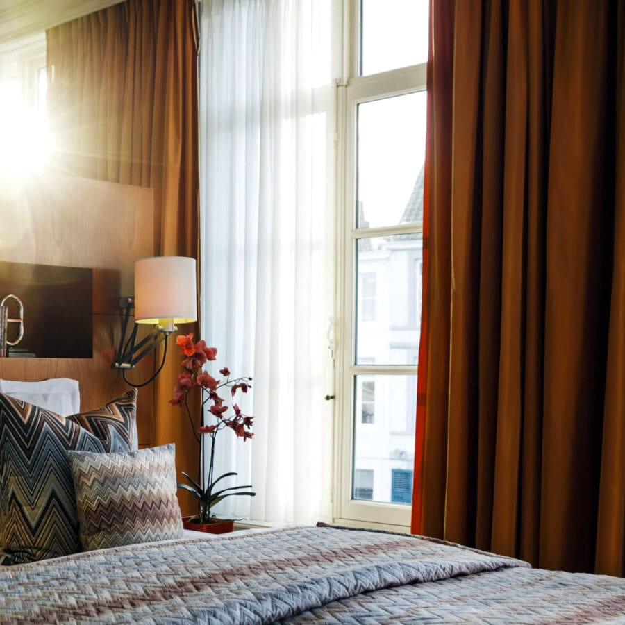 Chambre de l'hôtel Van Cleef à Bruges