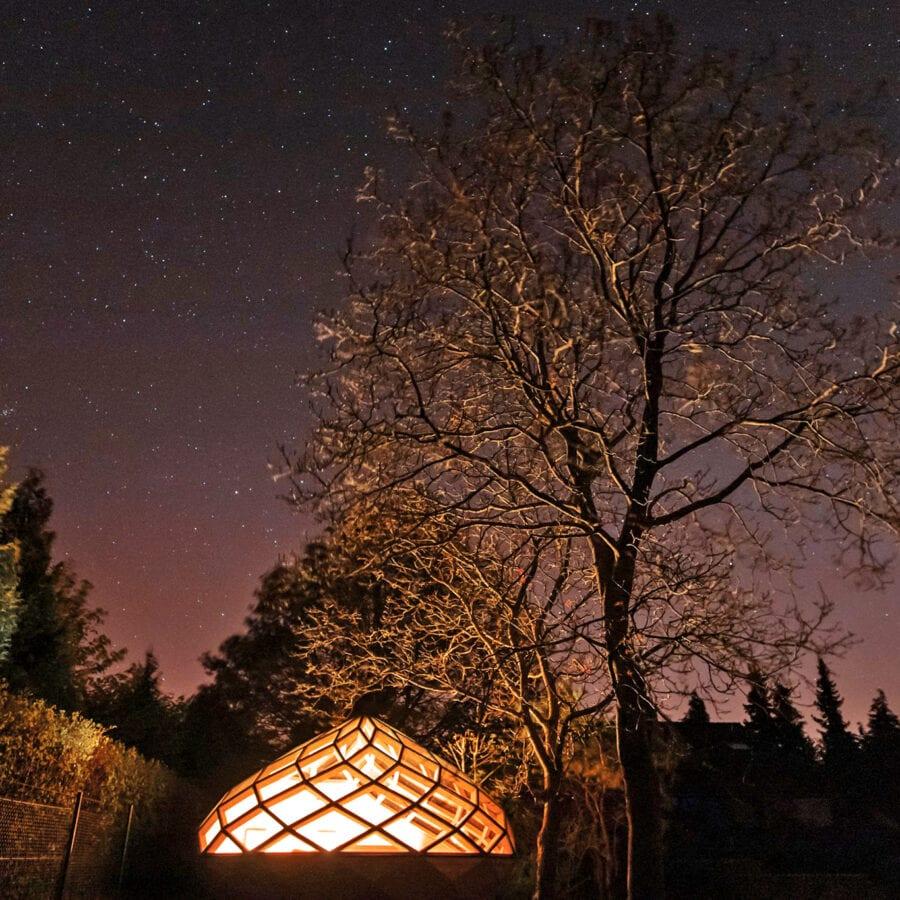 La bulle de nuit du Chant des Étoiles près de Spa