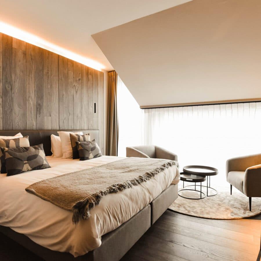 Chambre à coucher au Sanglier des Ardennes à Durbuy