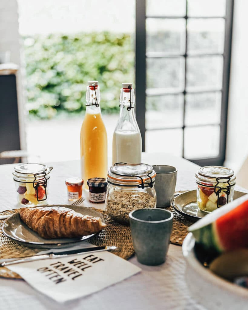 Petit déjeuner à la Maison François à Bruges