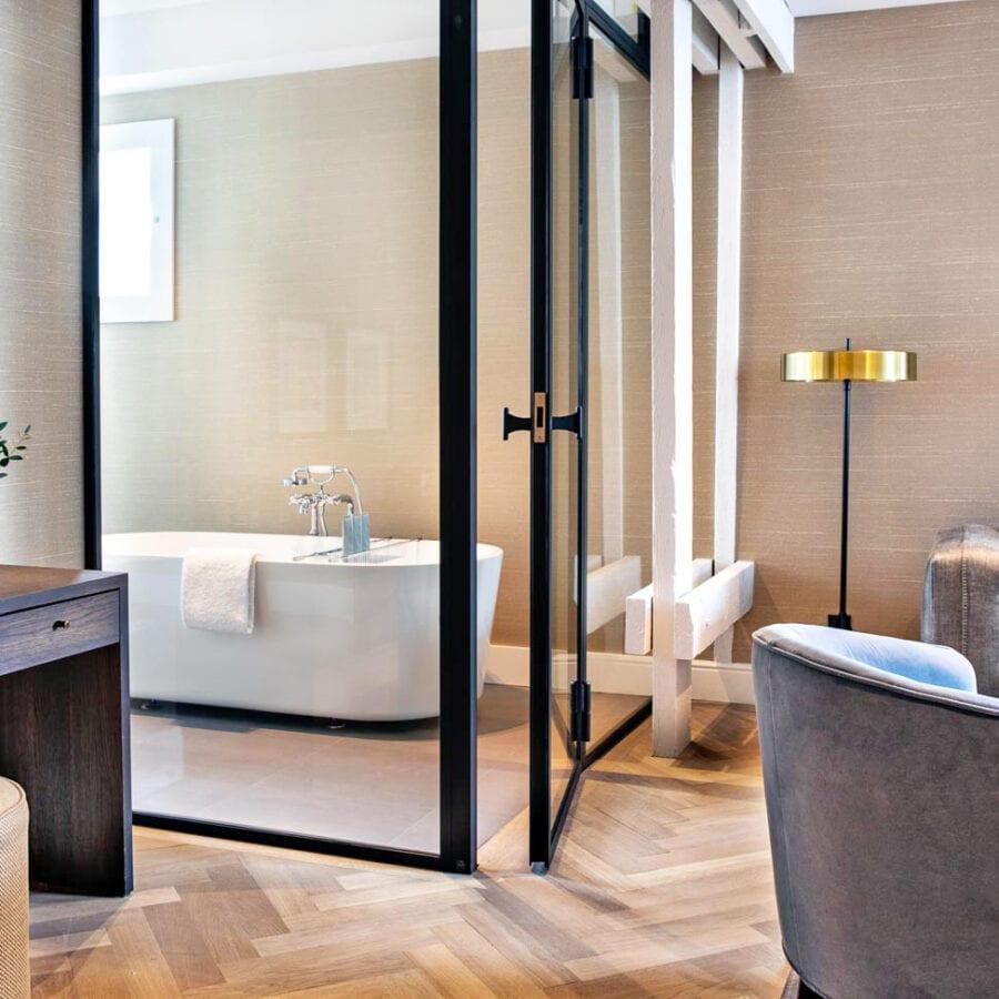 Salle de bain au Pillow Boutique Hôtel Reylof à Gand