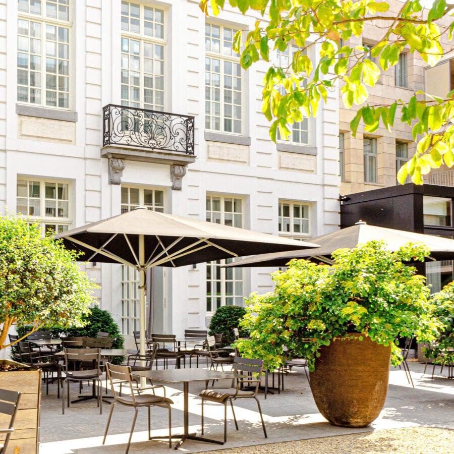 Terrasse ensoleillé au Pillow Boutique Hôtel Reylof à Gand