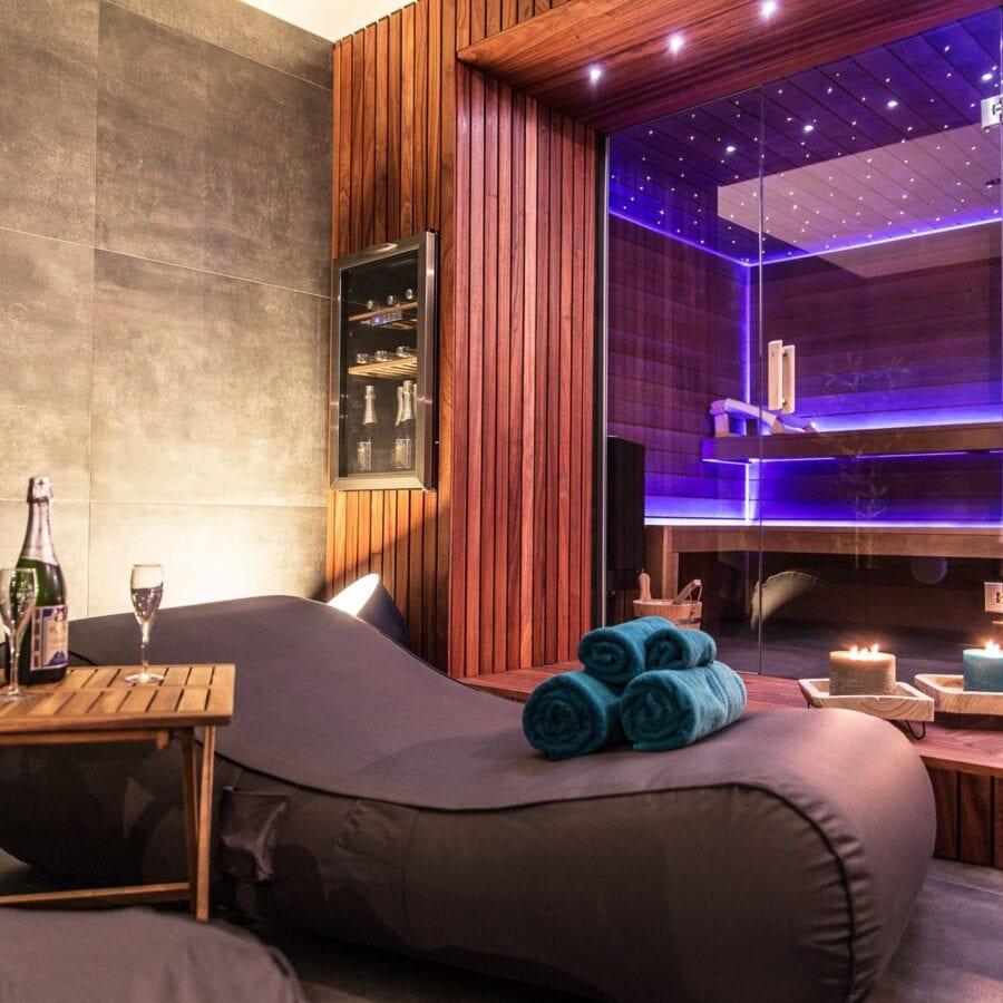 Côté transat et sauna à Rêve d'ô à Liège