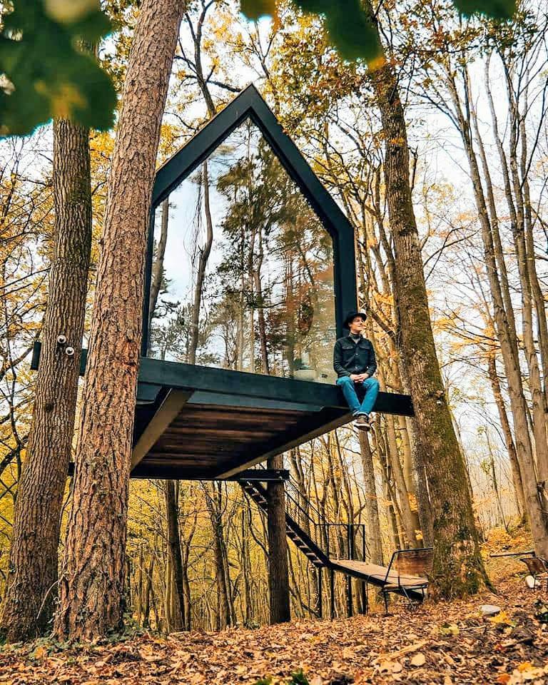 The Flying Fermette en automne à Stay Ici dans les Ardennes