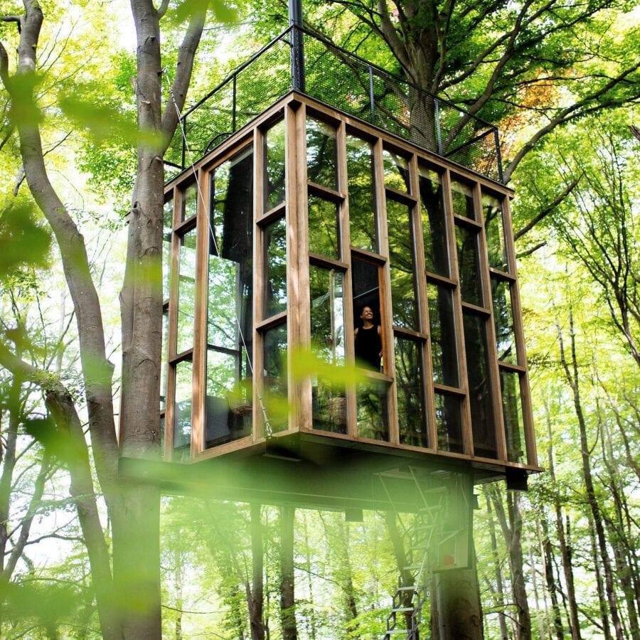 The Glass Cube à Stay Ici dans les Ardennes