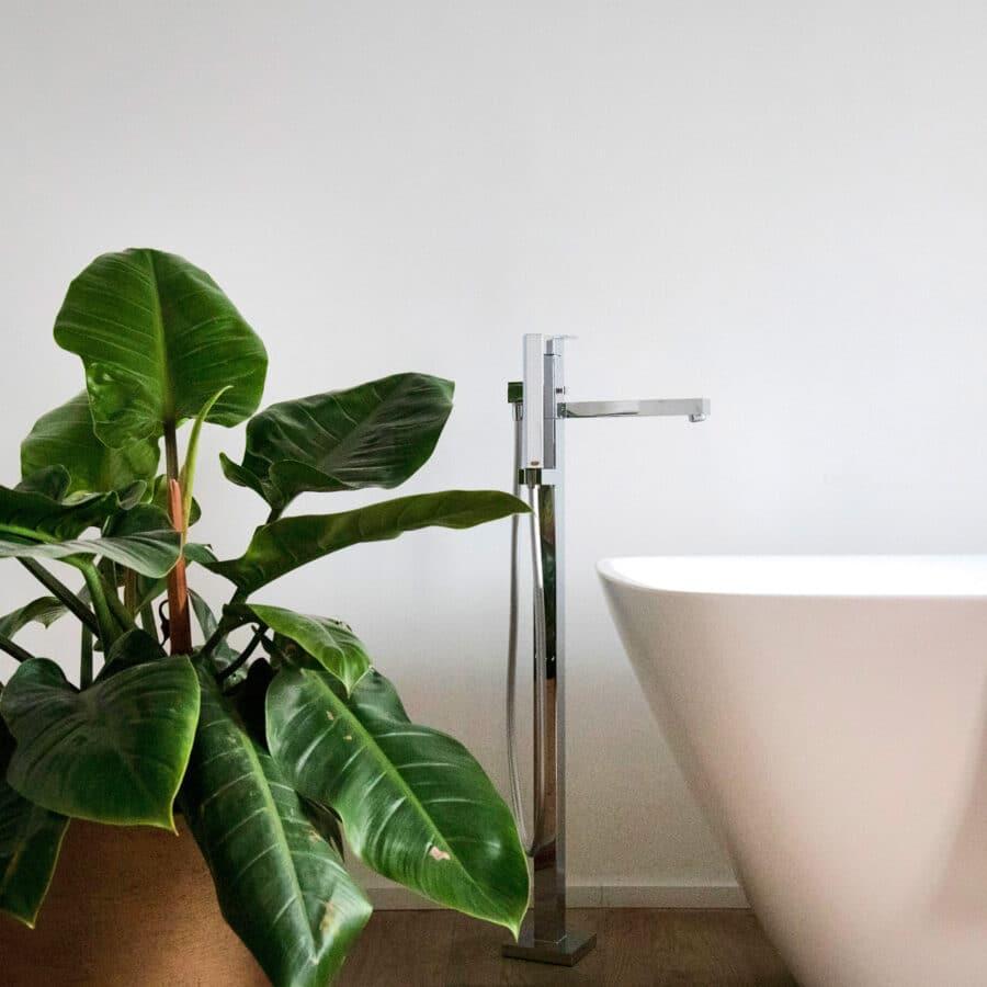 Baignoire et plante verte à The Green House à Anvers