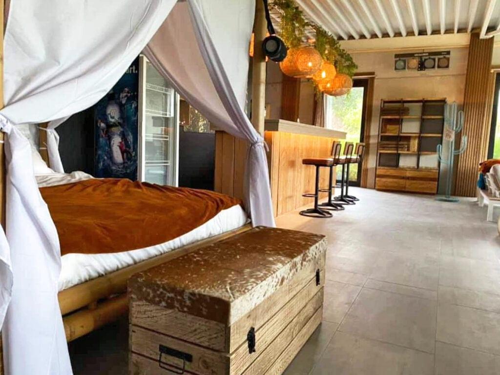 Côté chambre au Zenzibar près de Gavere