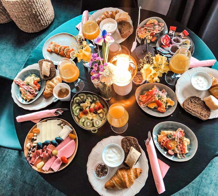 Petit déjeuner à Hoeve La Cascina à Gand