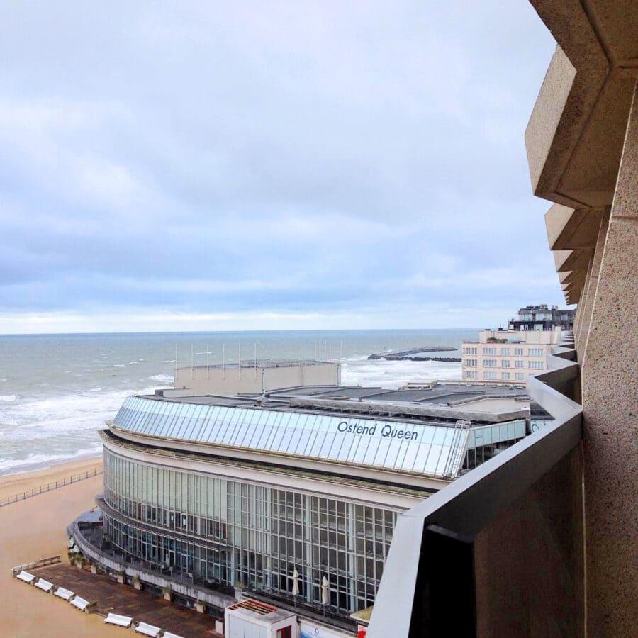 Vue depuis l'hôtel Andromeda à Ostende