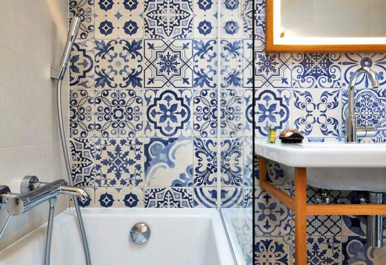 Salle de bain du Hygge hôtel à Bruxelles