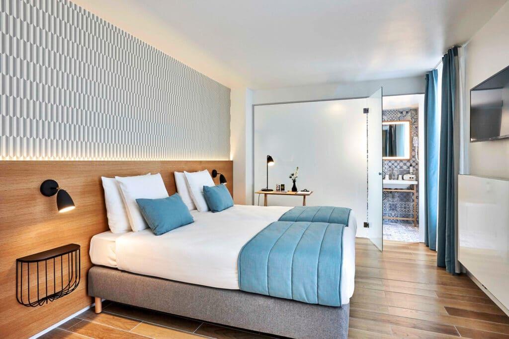 Chambre à coucher du Hygge hôtel à Bruxelles