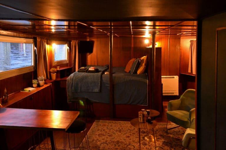 Chambre à coucher à la Cabine du Capitaine à Liège