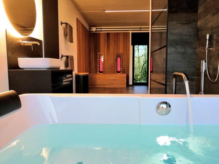 Salle de bain à Oduo à Spa