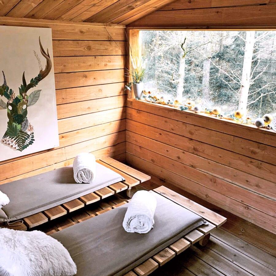 Transats intérieur au Wooden Nest à Durbuy
