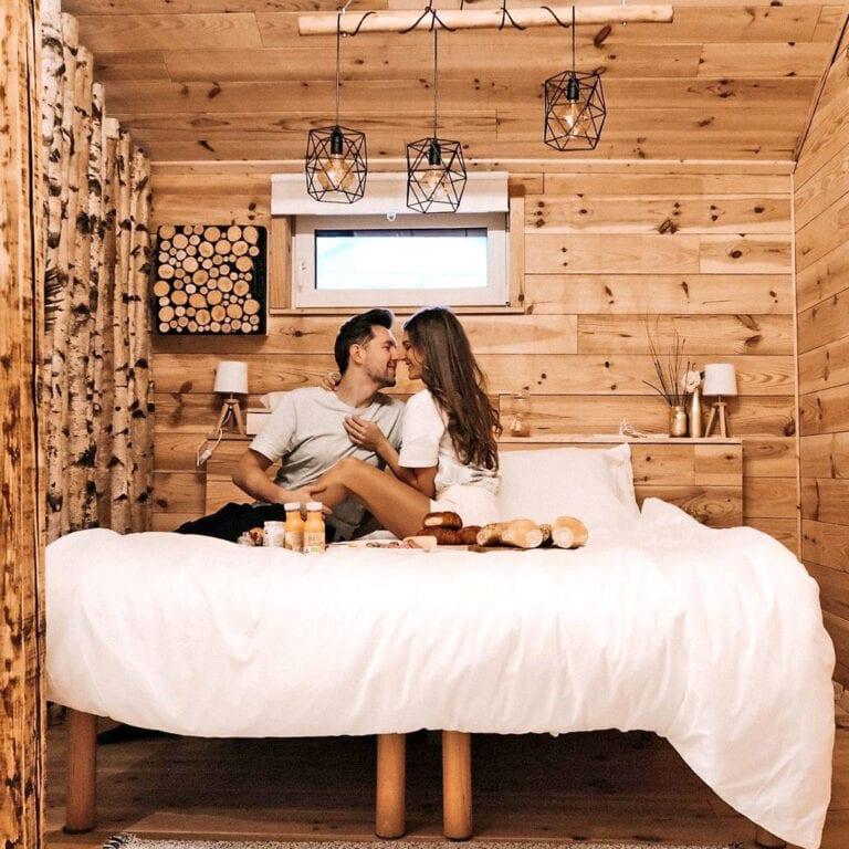 Réveil en amoureux au Wooden Nest à Durbuy