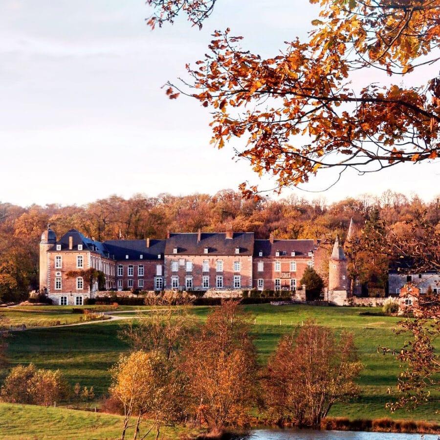 Automne au château d'Arville à Namur