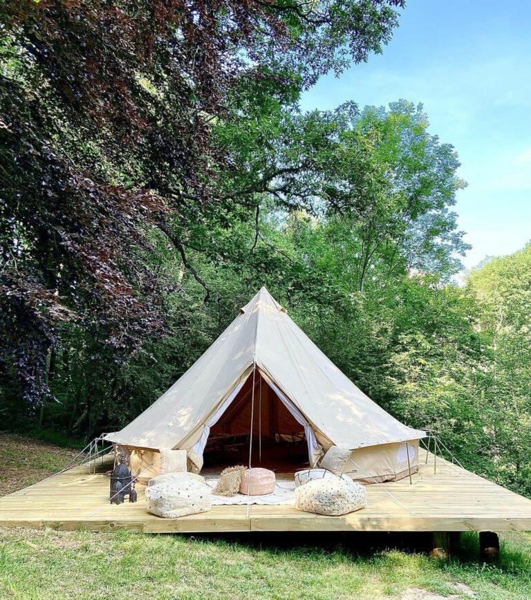 Tente de luxe au Château de La Chapelle à Anthisnes