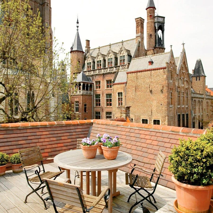 Terrasse à l'hôtel Bonifacius à Bruges