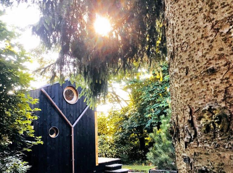 Jardin de la Tiny House Titiwane à Liège