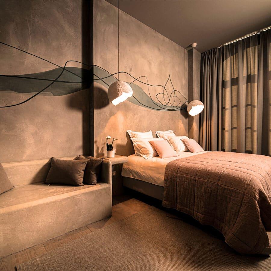 Chambre de nuit au Ayuryoga Wellness Hôtel à Courtrai