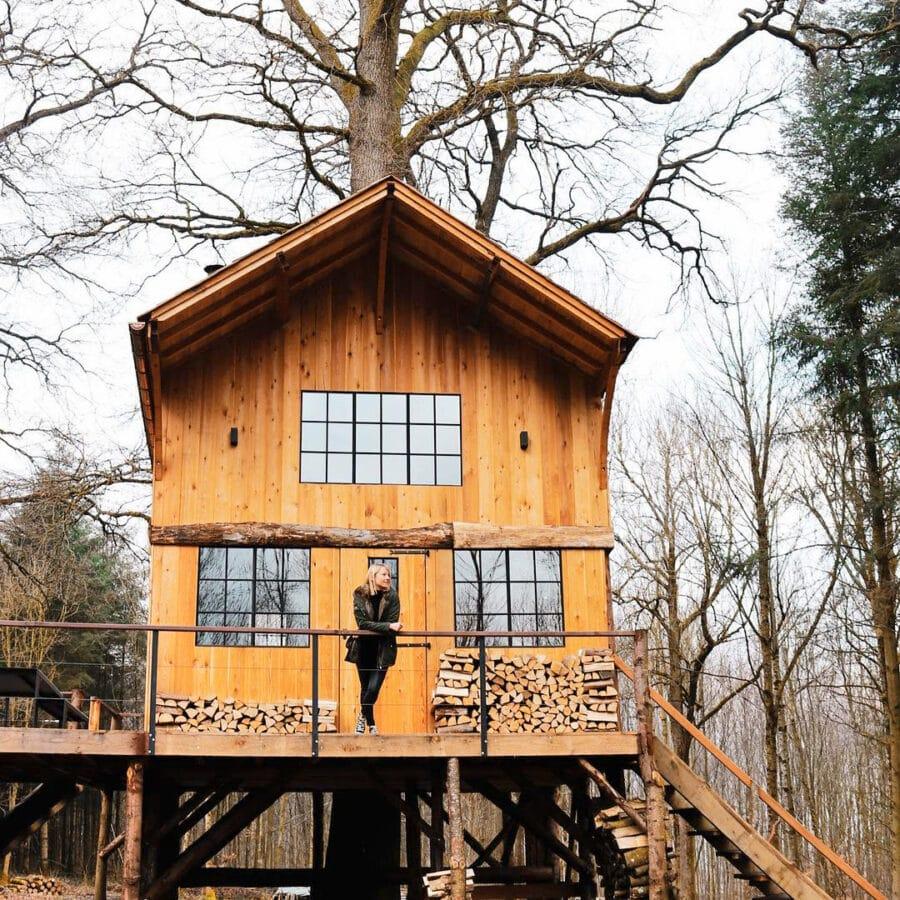Cabane d'Écorces dans les Ardennes belges