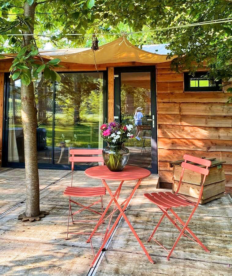 Salon de jardin au moulin des saules à Namur