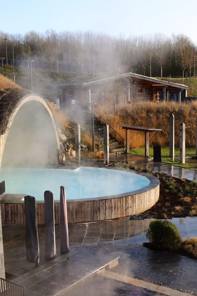 Jacuzzi au Waer Waters Spa Hotel près de Bruxelles